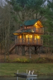 The Tree House at Moose Meadow - Waking up to the splashing of rainbow trout and the music of the hermit thrush as you gaze out on the pristine pond at Moose Meadow. The Treehouse at Moose Meadow is where nature and luxury come together in tranquil harmony, and where your imagination can soar. This is an experience that will change you forever.