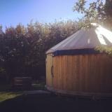 Cedar style yurt