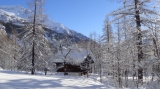 Italy~Beautiful chalet built in wood and stone In Macugnaga