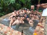 Outdoor hot tub at TepozSpa