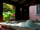 The Spa - Nestled in the garden among the patios and trails is a spa/hot tub which can seat up to five people.