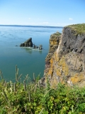 Cape Split Hiking Trail - One of Nova Scotia's most famous hiking trails (16km/10mile round-trip). The trail takes you through a forest in the beginning, so don't be discouraged - its worth the hike.
