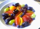 Fresh fruit plate.