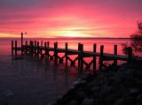 Sunrise over the back dock.