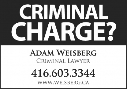 Toronto Criminal Lawyer Adam Weisberg