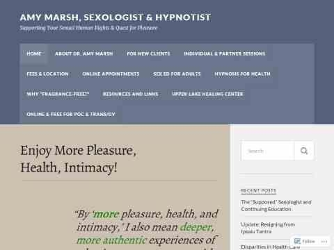 Amy Marsh, Hypnosis & Sex Counseling