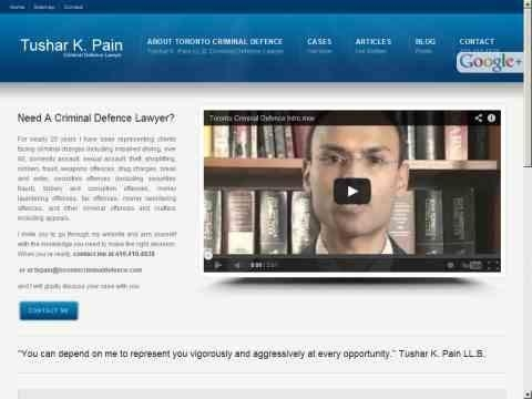 Tushar K. Pain, Toronto Criminal Defence Lawyer